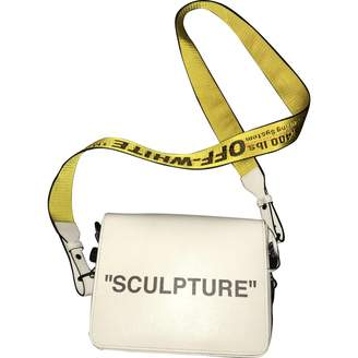 Off-White Off White Binder White Leather Handbag