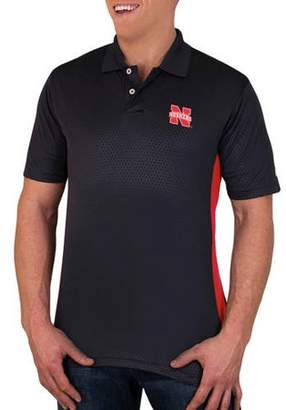 NCAA Nebraska Cornhuskers Men's Synthetic Embossed-Pattern Polo