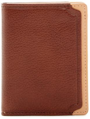 Trafalgar Two-Tone Leather L-Fold Wallet $95 thestylecure.com