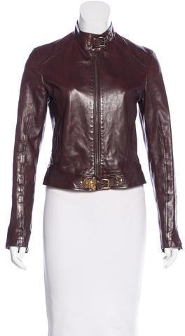 Miu MiuMiu Miu Leather Biker Jacket