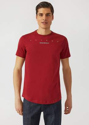 Emporio Armani Love Me T-Shirt In Cotton Jersey
