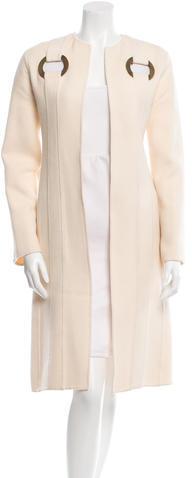 ValentinoValentino Long Eyelet-Accented Coat