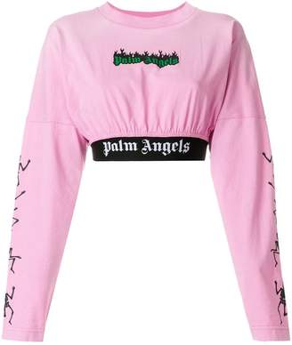 Palm Angels Dance of Death cropped sweatshirt