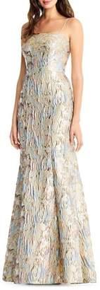Aidan Mattox Jacquard Mermaid Gown