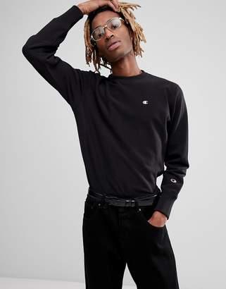 Champion reverse weave sweatshirt with small logo in black
