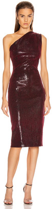 HANEY Mila Sequin Dress in Burgundy   FWRD