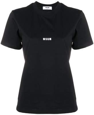 MSGM cropped logo T-shirt