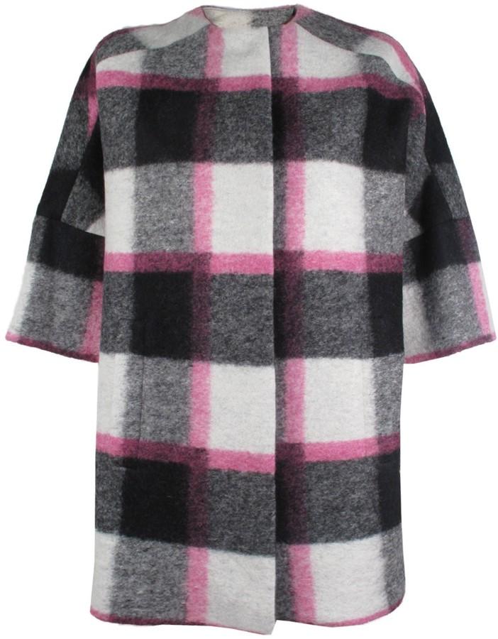 MSGM Checkered Plaid Coat