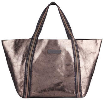 Brunello Cucinelli Metallic Leather Monili-Handle Tote Bag