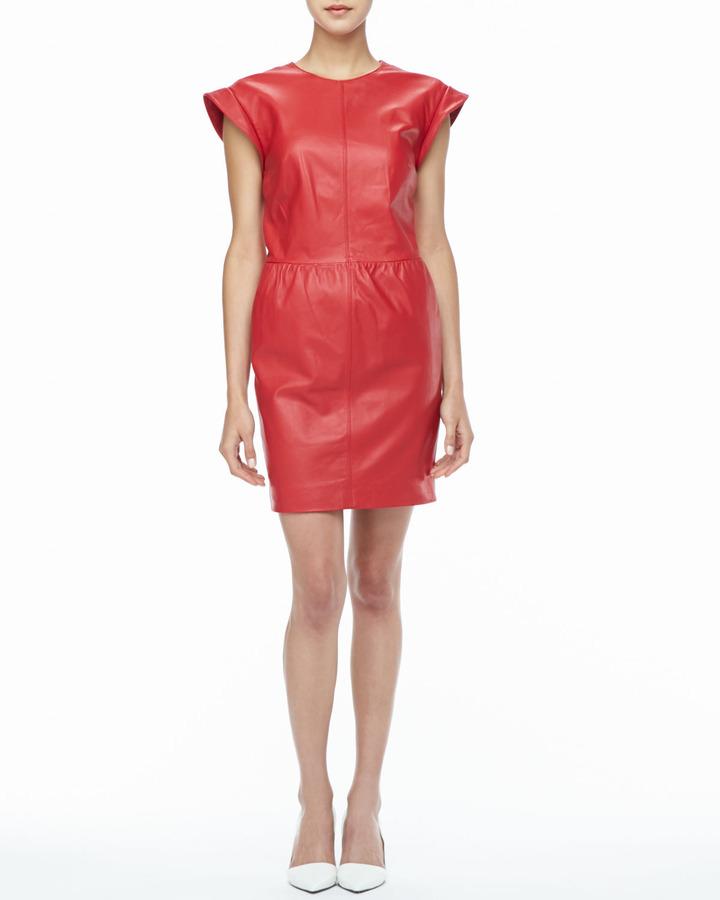 Rachel Zoe Antonia Relaxed Leather Dress