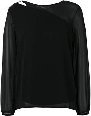 Patrizia Pepe cut out detail blouse