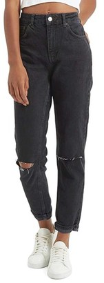 Women's Topshop Moto Mom Washed Ripped Jeans $75 thestylecure.com