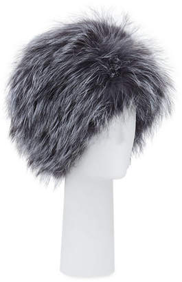 Surell Accessories Fox Fur Bubble Hat