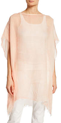 Eileen Fisher Plus Size Maltinto Linen Poncho