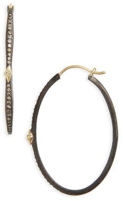 Women's Armenta Old World Oval Hoop Earrings $790 thestylecure.com