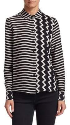 Stella McCartney Zig Zag Silk Shirt