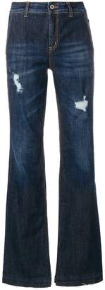 Dondup faded distressed detail flared jeans