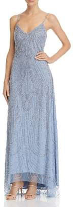 Avery G Embellished High/Low Gown