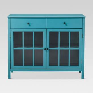 Threshold Windham 2 Door Accent Buffet, Cabinet with Shelves - Teal