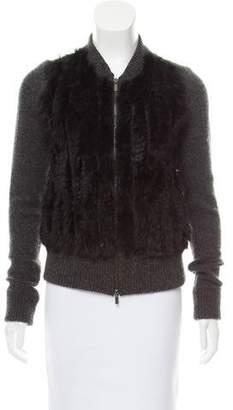 Diane von Furstenberg Cortina Fur Cardigan
