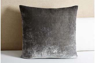 Linen Salvage Et Cie Tailored Velvet Euro Sham - Gray