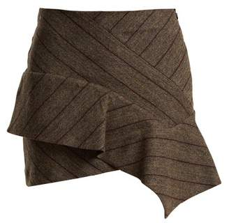 Isabel Marant Kimura Striped Linen Blend Mini Skirt - Womens - Dark Grey