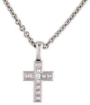 Cartier Diamond Cross Pendant Necklace