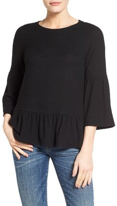 Petite Women's Gibson Cozy Fleece Peplum Top $49 thestylecure.com