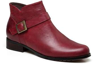 Vicenzo Leather Florence Stacked Heel Leather Boot