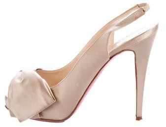 Christian Louboutin  Christian Louboutin Satin Bow Pumps