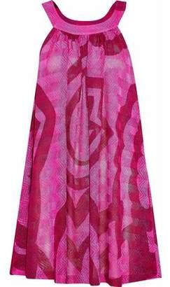 Missoni Mare Metallic Crochet-Knit Mini Dress