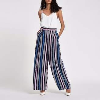 River Island Womens Blue stripe wide leg pants