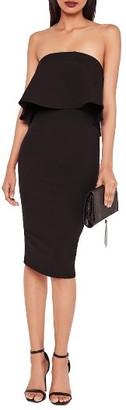 Women's Missguided Strapless Popover Midi Dress $72 thestylecure.com