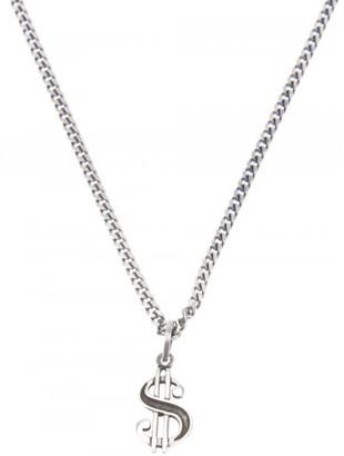 Saint Laurent dollar sign necklace $495 thestylecure.com