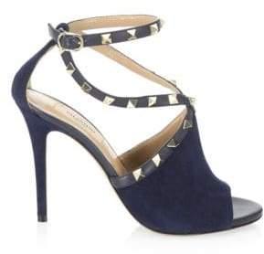 Valentino Rockstud Suede Sandals