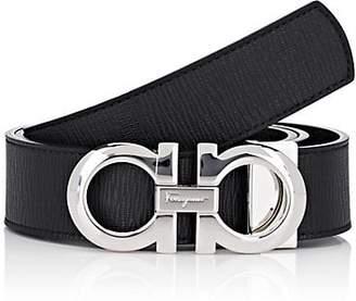Salvatore Ferragamo Men's Leather Reversible Belt - Black