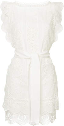 Zimmermann crochet stitched tie waist dress