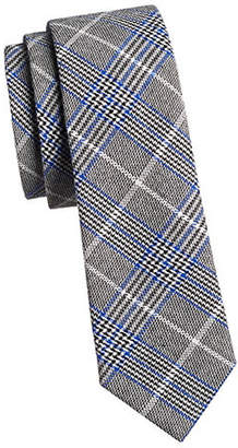 HAIGHT AND ASHBURY Plaid Slim Cotton Tie