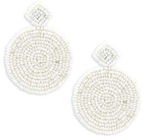 Kenneth Jay Lane Beaded Round Drop Earrings