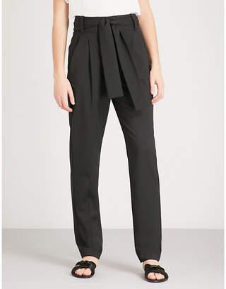Maje Paris slim-fit high-rise twill trousers