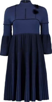 Fendi Pleated Fur Dress