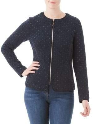 Olsen Nordic Mood Quilted Zip Front Jacket