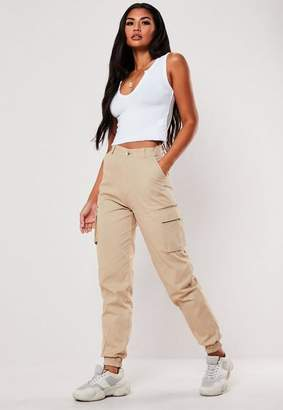 Missguided Tall Sand Plain Cargo Pants