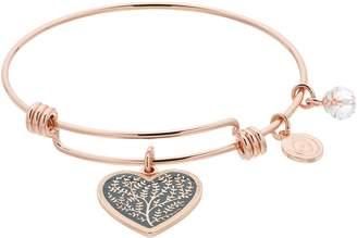 Love This Life love this life Family Tree Heart Charm Bangle Bracelet