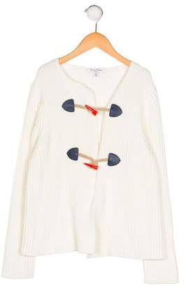 Brooks Brothers Girls' Knit Button-Up Cardigan