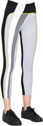NO KA 'OI Kina Patchwork Microfiber Capri Leggings