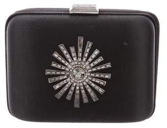 Devi Kroell Satin Embellished Clutch