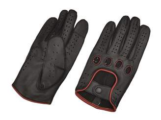 29a28cdca2a HAQS LEATHER Men Genuine Leather Driving Texting Touch Screen Unlined  Knuckle Holes Gloves (Black