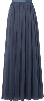 Needle & Thread Tulle Maxi Skirt - Storm blue