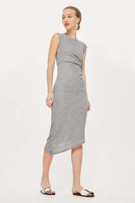 Topshop Drape Side Midi Shift Dress